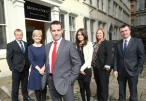 The Legal Indemnity Team (left to right): Nigel Jesson, Andrea Gibbons, Alex Bielinski, Alice Moore, Jenny Turberville, and Fraser Bell